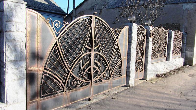 Полностью кованые ворота