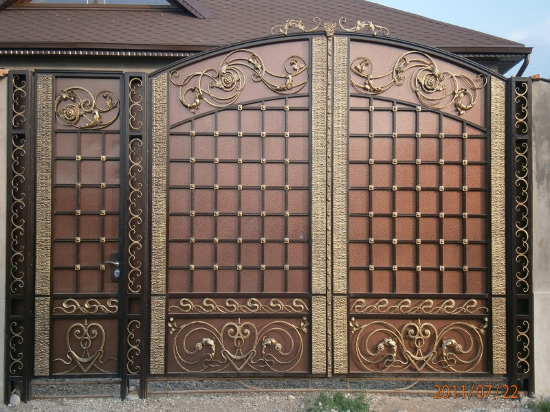 Ворота кованые металлические премиум класса