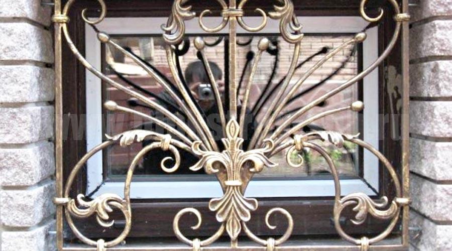 красивые кованые стационарные решетки в Херсоне