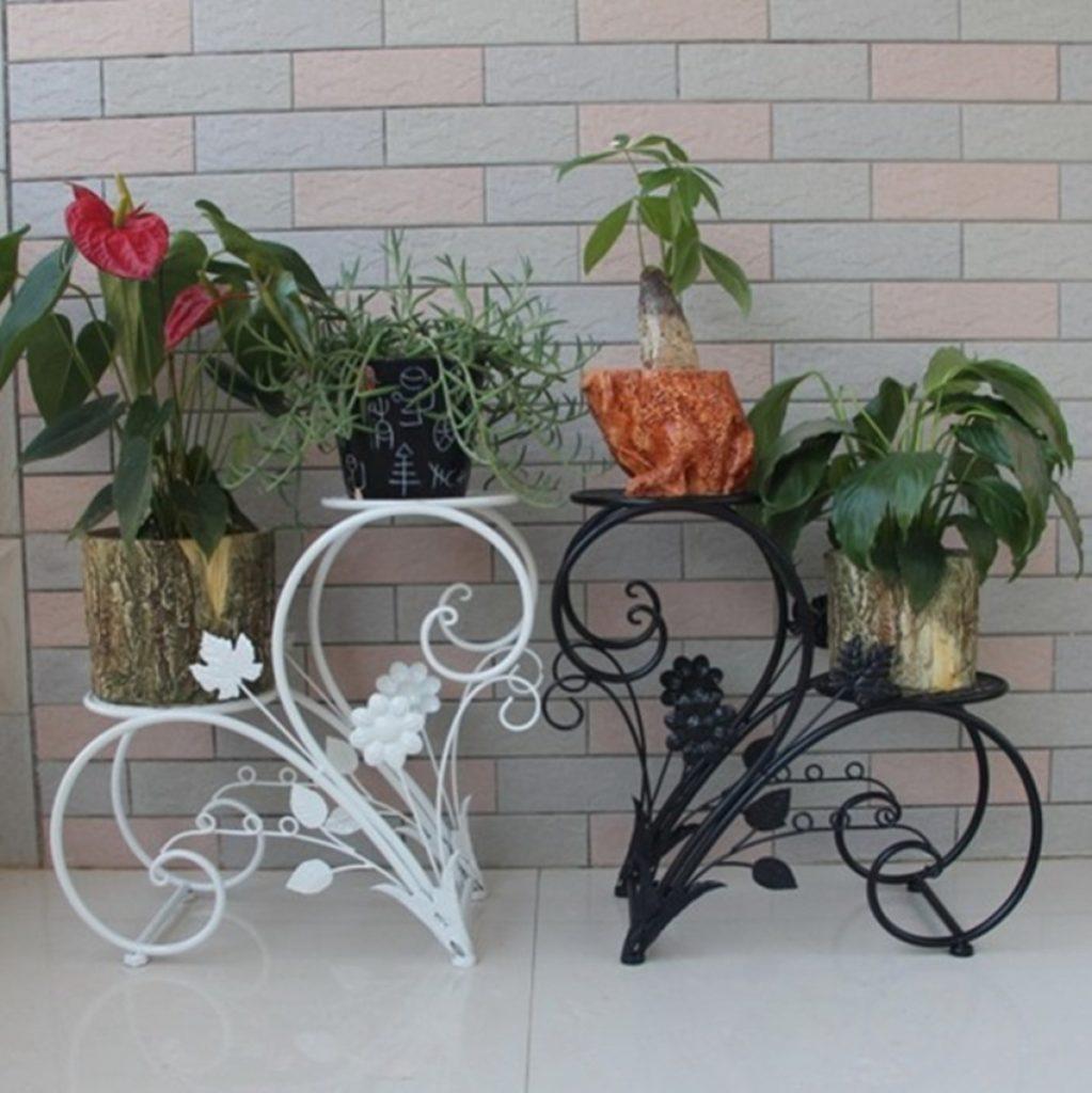 Подставка под цветок металлическая фото