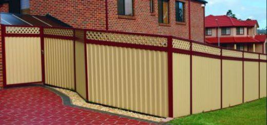 Ограда из профилированного металла с полимерным покрытием