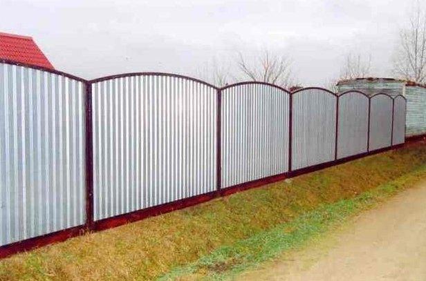 Секционный забор из профнастила в Херсоне на заказ