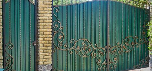 Монтаж ворот из профнастила в Херсоне по доступной цене