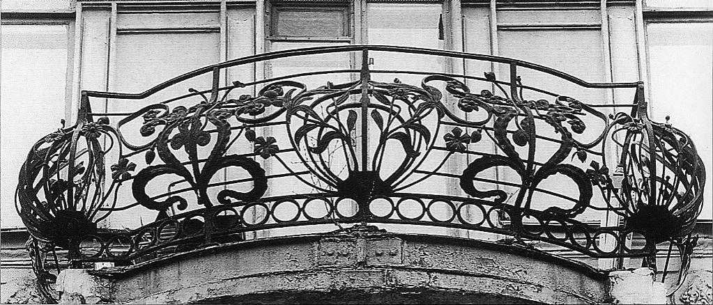 Поручни балконные кованые в стиле модерн