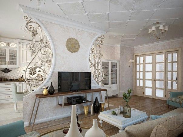 Современные кованые элементы декора в стиле арт-деко Херсон