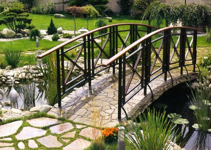 Металлический садовый мостик заказать в Херсоне