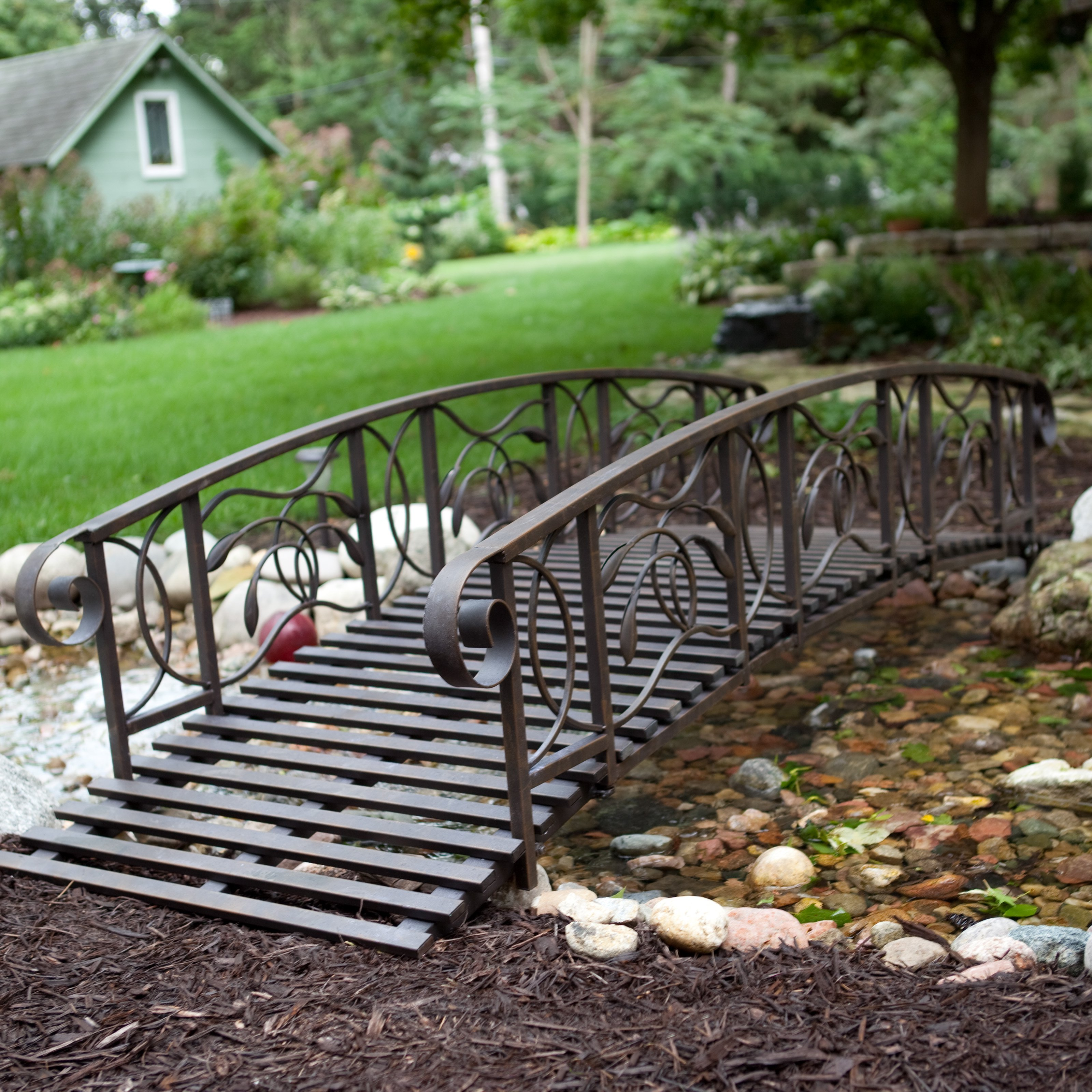 Мостик садовый с коваными перилами заказать в Херсоне