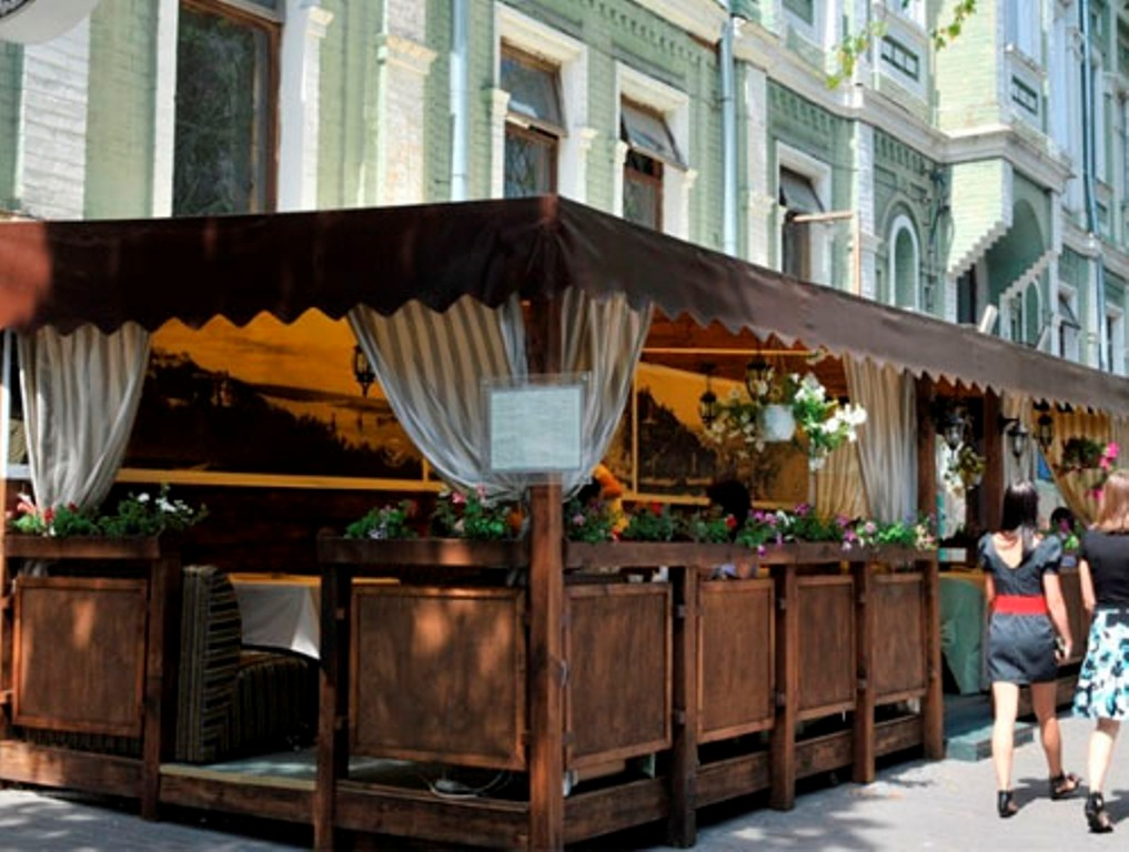 Конструкции и навесы для кафе, ресторана