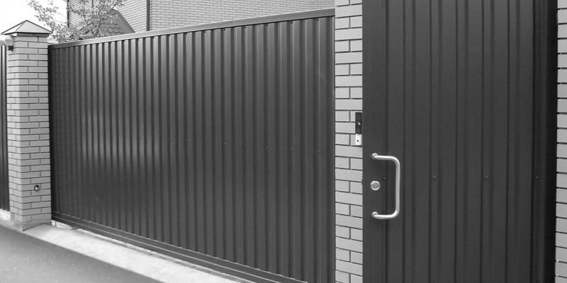 ворота из металлического профиля в херсоне на заказ