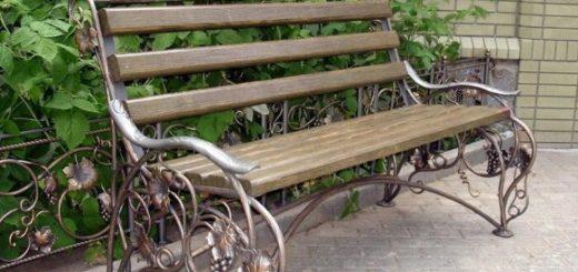 красивая садовая лавка на заказ в Херсоне